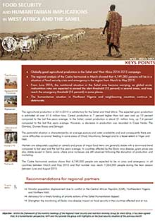Food Security and humanitarian implications in West Africa and the Sahel - FAO/WFP Joint Note, March 2015