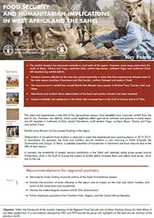 Food security and humanitarian implications in West Africa and the Sahel - FAO/WFP Joint Note, August 2015