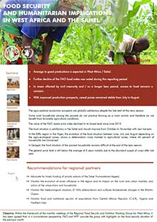Food security and humanitarian implications in West Africa and the Sahel - FAO/WFP Joint Note, September 2015