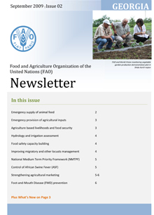 FAO in Georgia: Issue 2, September 2009