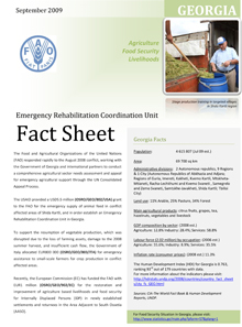 Georgia Fact Sheet - September 2009