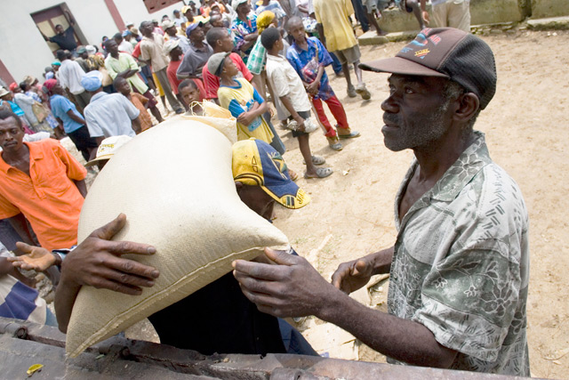 Sowing seeds for hungry Haitians