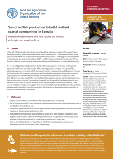 Sun-dried fish production to build resilient coastal communities in Somalia