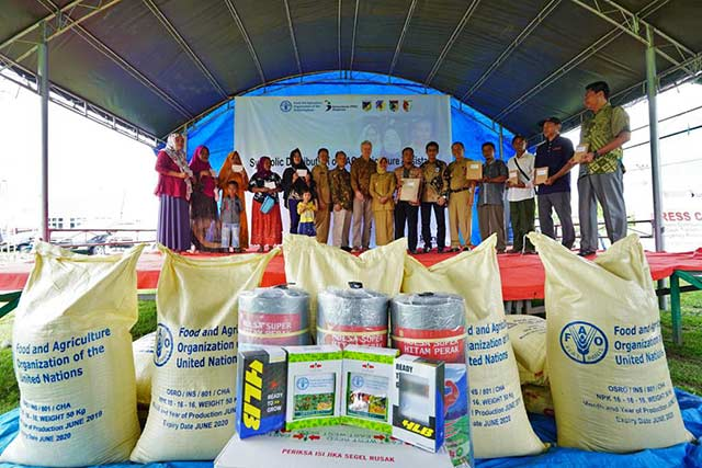 FAO distributes aid to farming and fishing households in Palu