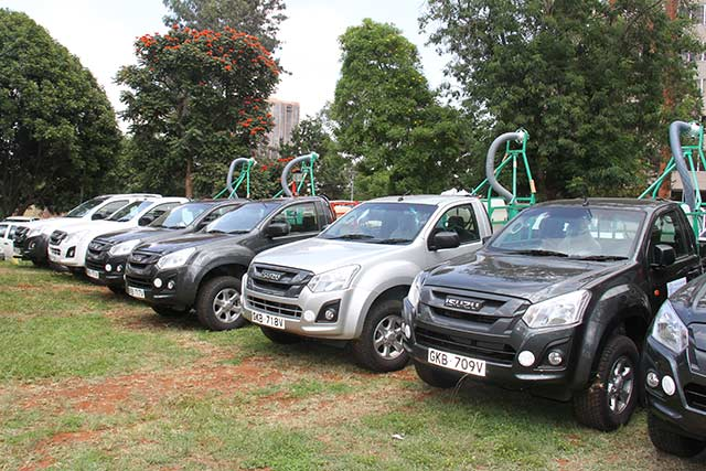 Kenya receives 10 vehicles mounted with sprayers