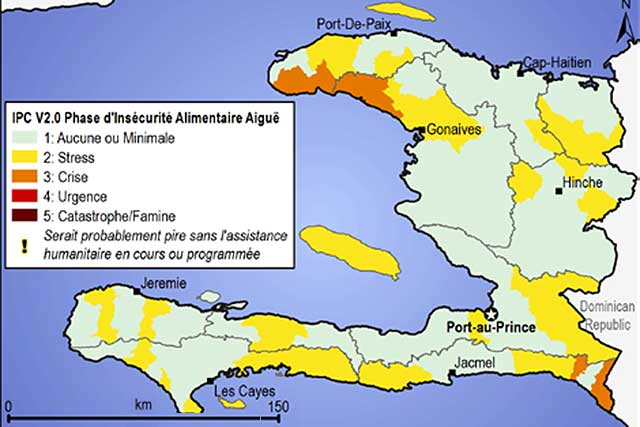 IPC Map of Haiti - April/June 2015 : FAO in Emergencies