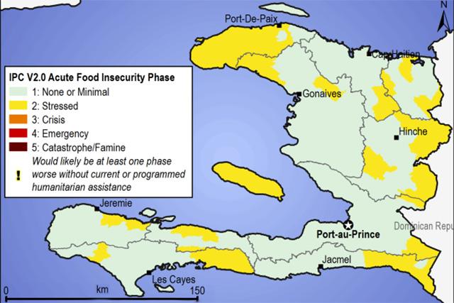 IPC Map Of Haiti JuneSeptember FAO In Emergencies - Map haiti