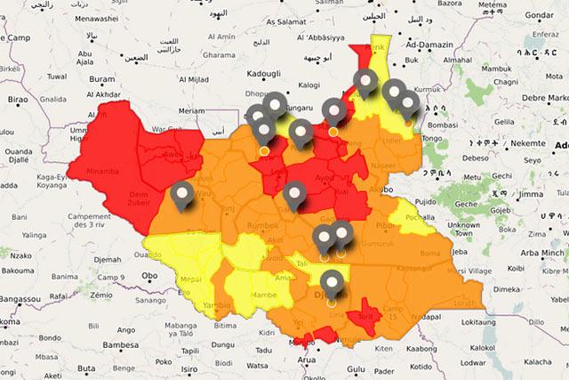 IPC Map of South Sudan - June-July 2017 : FAO in Emergencies