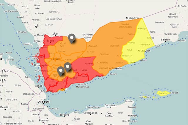 IPC Map Of Yemen MarchJuly FAO In Emergencies - Yemen maps with countries