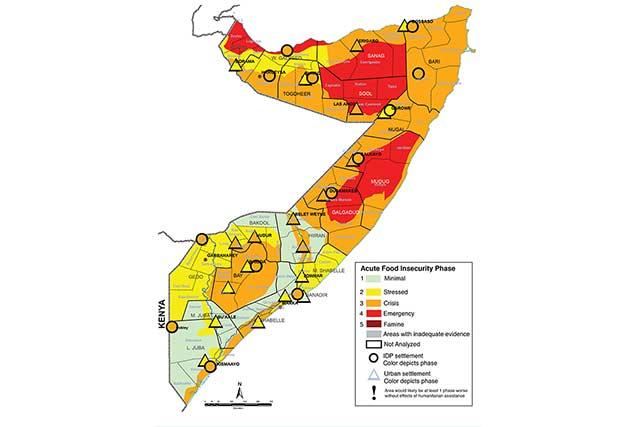 IPC Map of Somalia - February-June 2018, Most Likely Scenario : FAO ...