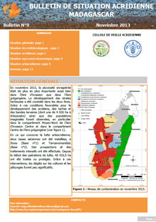 Madagascar - Bulletin de situation acridienne N. 9 - Novembre 2013
