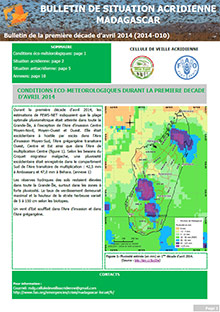 Madagascar - Locust situation bulletin D10 - April 2014 (in FRENCH)
