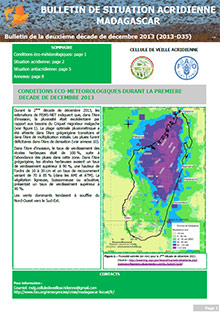 Madagascar - Locust situation bulletin D35 - December 2013 (in FRENCH)