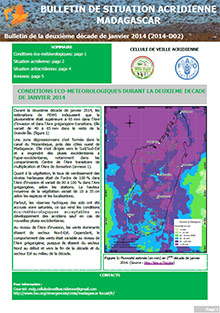 Madagascar - Bulletin de situation acridienne D02 - janvier 2014