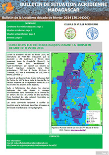 Madagascar - Locust situation bulletin D06 - February 2014 (in FRENCH)