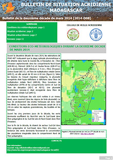 Madagascar - Bulletin de situation acridienne D08 - mars 2014