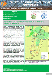 Madagascar - Locust situation bulletin D09 - March 2014 (in FRENCH)