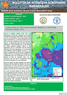 Madagascar - Locust situation bulletin D12 - April 2014 (in FRENCH)