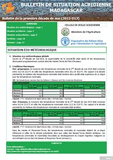 Madagascar - Bulletin de situation acridienne D13 - mai 2015