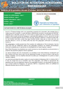 Madagascar - Bulletin de situation acridienne D28 - octobre 2014