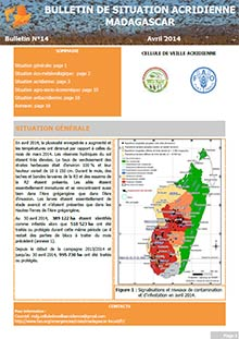 Madagascar - Bulletin de situation acridienne N. 14 - Avril 2014
