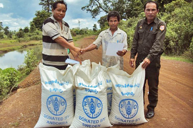 Emergency Agricultural Response to Typhoon Affected Farmers in the Lao People's Democratic Republic