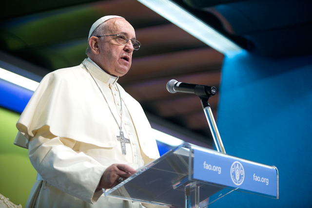 Pope Francis endorses FAO emergency response in Eastern Africa and hopes to motivate governments to support in solidarity