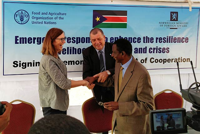 Norway boosts support for crisis-affected farmers, fisherfolk and herders in South Sudan