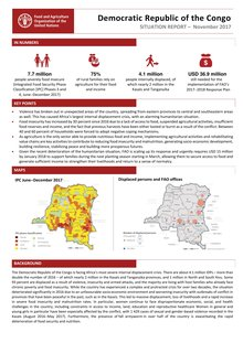 Democratic Republic of the Congo - Situation report November 2017