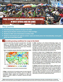 Food Security and humanitarian implications in West Africa and the Sahel - FAO/WFP Joint Note, August 2012