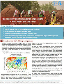 Food Security and humanitarian implications in West Africa and the Sahel - FAO/WFP Joint Note, June 2012