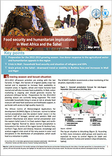 Food Security and humanitarian implications in West Africa and the Sahel - FAO/WFP Joint Note, May 2012