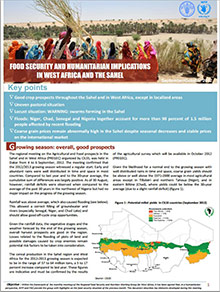 Food Security and humanitarian implications in West Africa and the Sahel - FAO/WFP Joint Note, September/October 2012