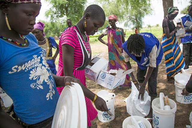 Donation from the Pope helps hungry families in South Sudan