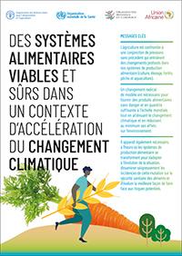 Des systèmes alimentaires viables et sûrs dans un contexte d'accélération du changement climatique