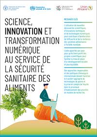 Science, innovation et transformation numérique au service de la sécurité sanitaire des aliments