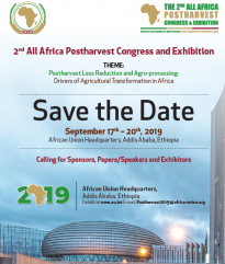 2nd All Africa Postharvest Congress and Exhibition SAVE the DATE