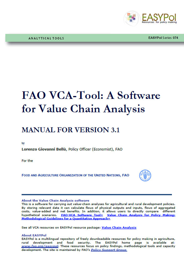 A Software for Value Chain Analysis  Manual for FAO VCA Software
