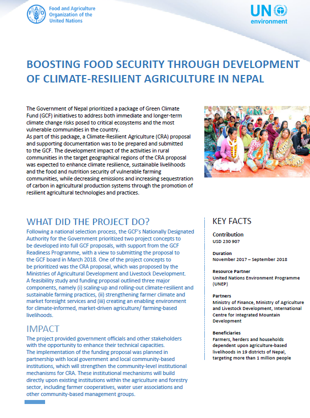 Boosting food security through development of climate