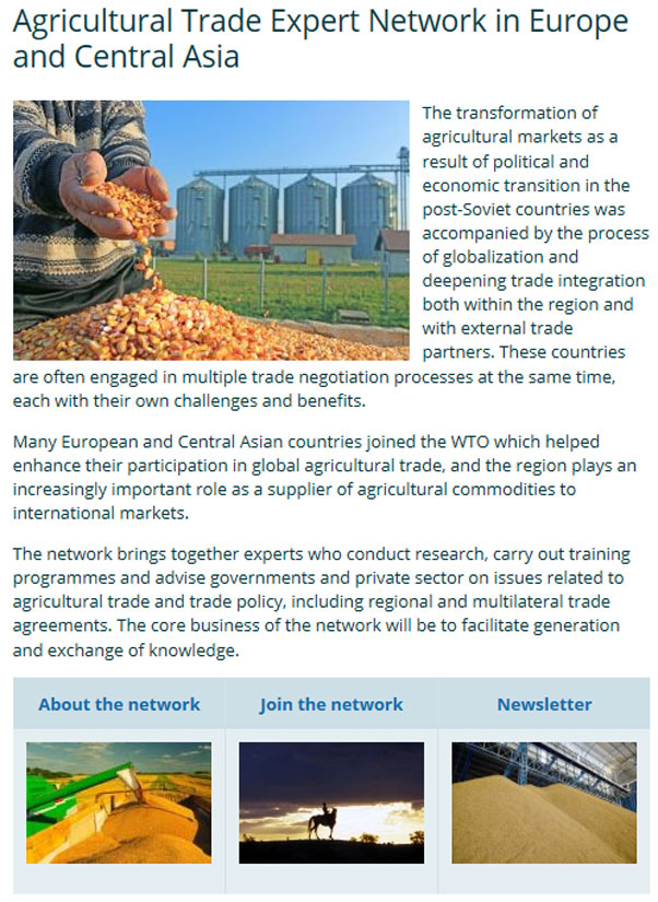 agricultural trade expert network in europe and central asia policy