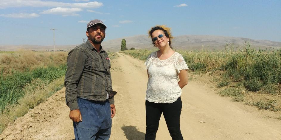 Ankara, July - Meeting the farmers