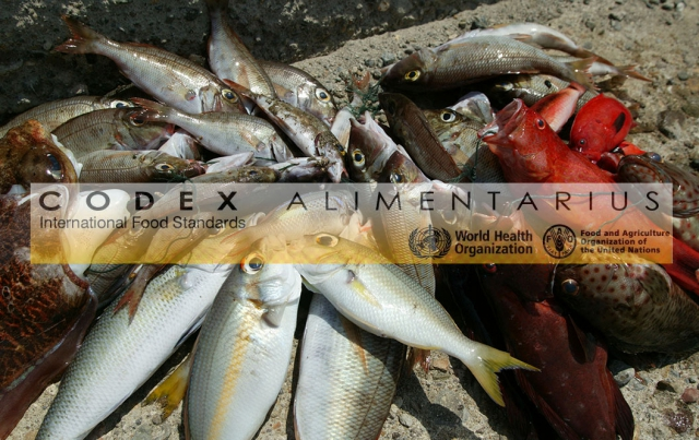 Codex texts relevant to fish products'