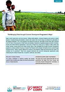 The Managing Risks through Economic Development Programme in
