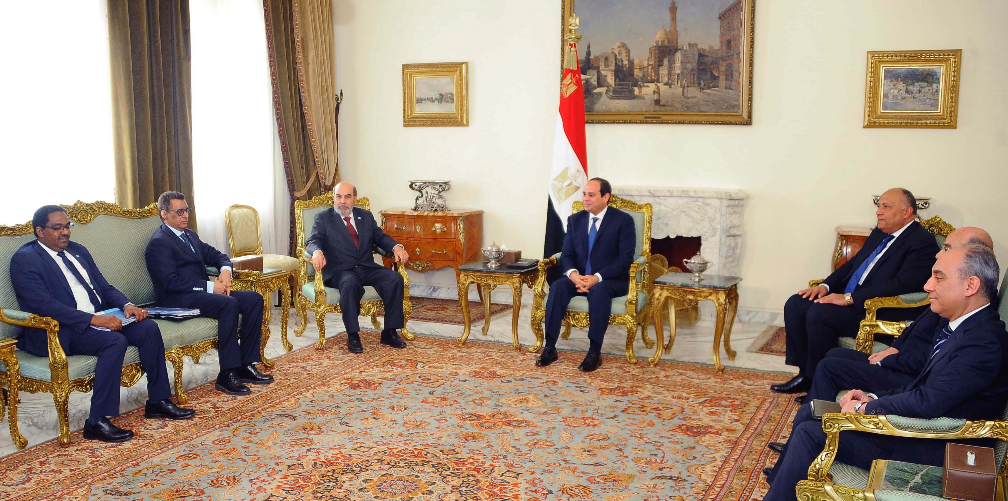 Photo courtesy of the office of the President of Egypt