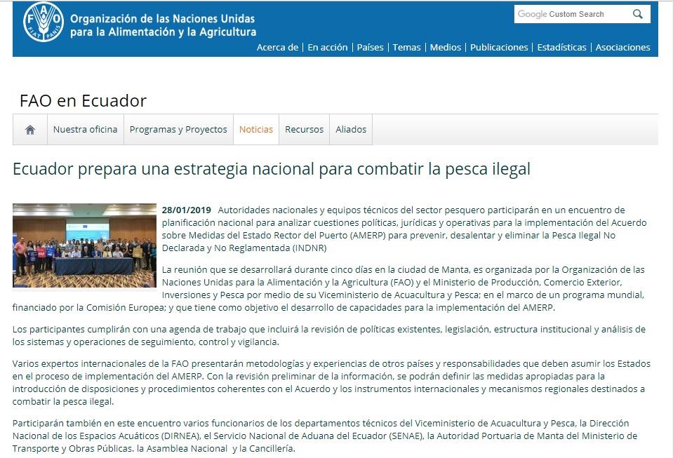 Ecuador Prepara Una Estrategia Nacional Para Combatir La