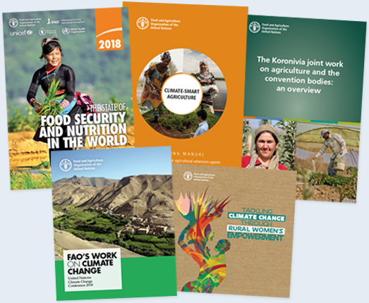 FAO's latest titles on climate change