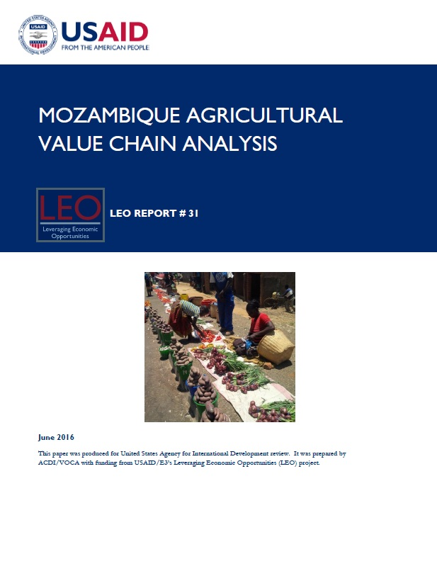 mozambique agricultural value chain analysis