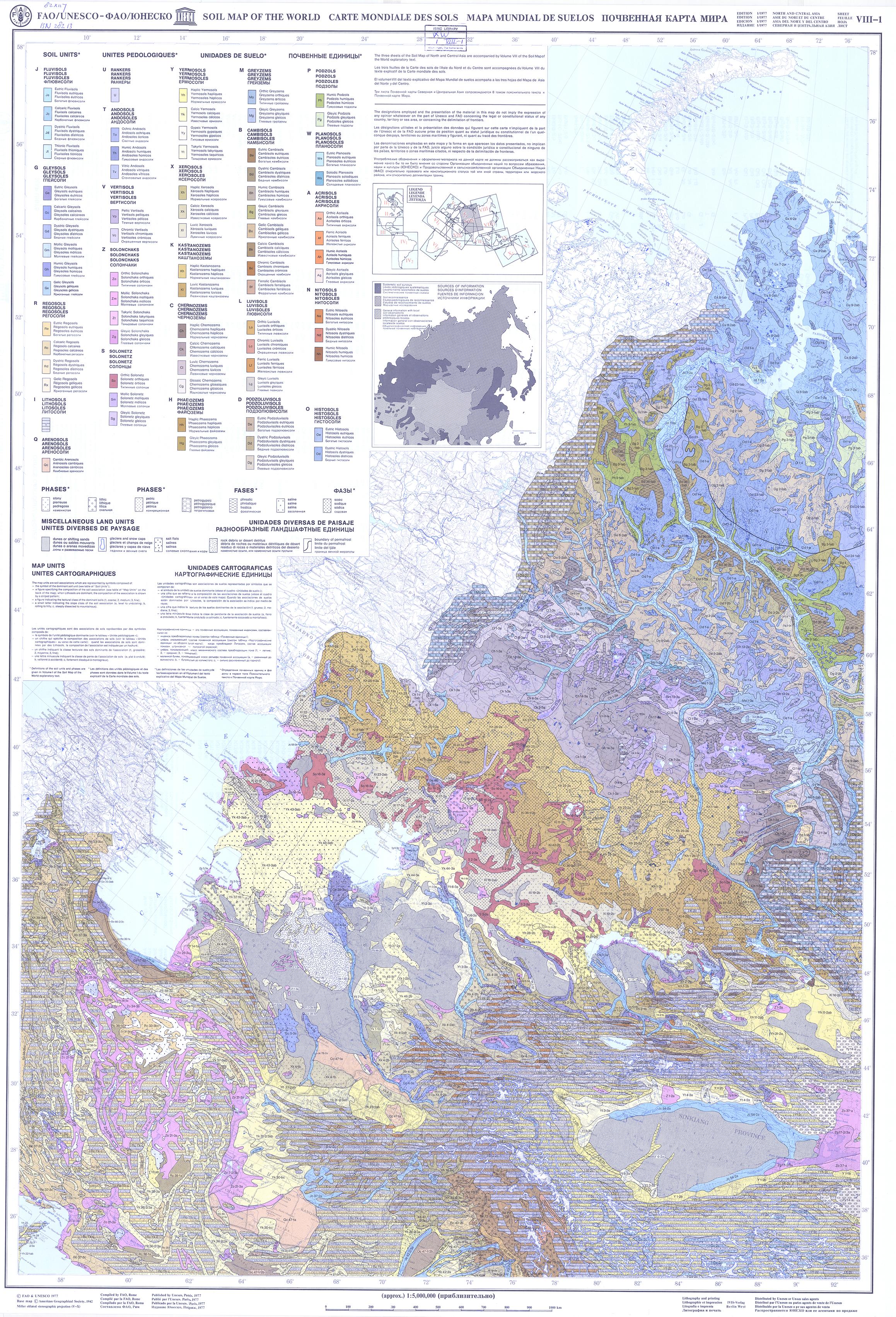Faounesco soil map of the world fao soils portal food and map 1 gumiabroncs Choice Image