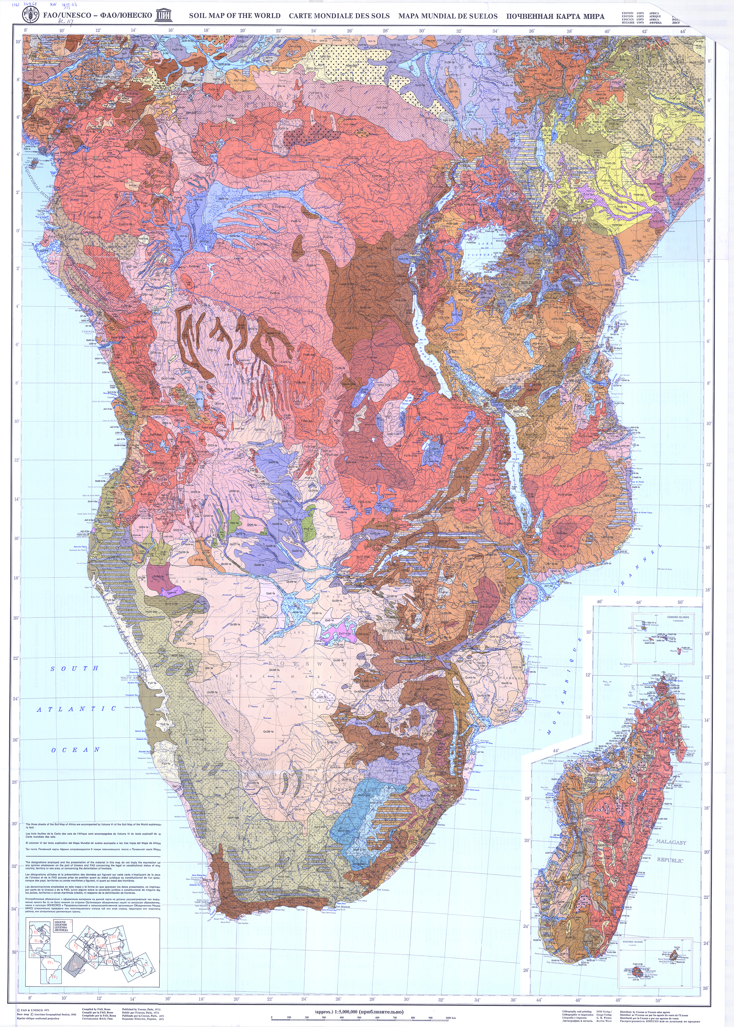 FAOUNESCO Soil Map of the World FAO – Map in the World