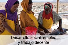 Desarrollo social, empleo y trabajo decente